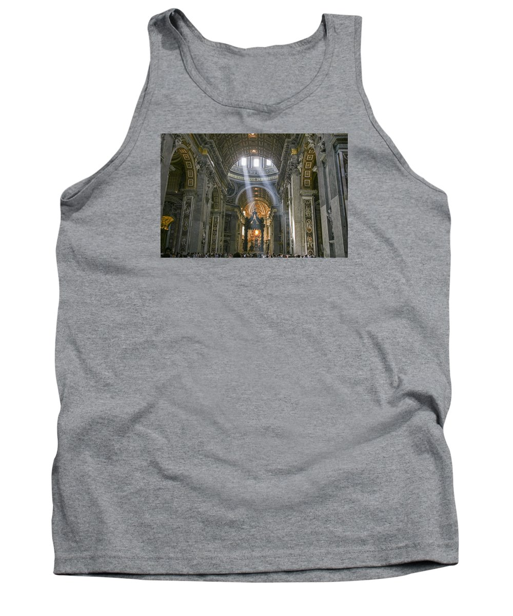 Italy 2014 Tank Top featuring the photograph Light From Above by Eric Swan