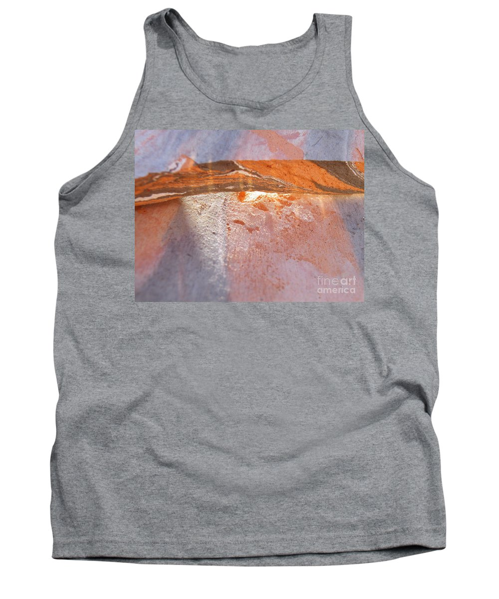 Abstract Tank Top featuring the photograph Light From Within by Brian Boyle