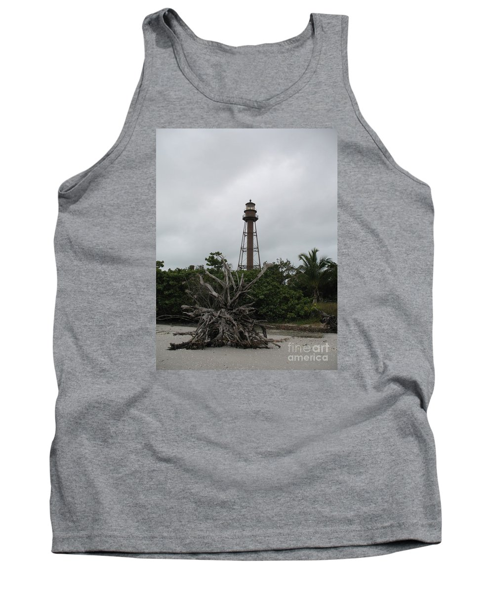 Ligthouse Tank Top featuring the photograph Lighthouse On Sanibel Island by Christiane Schulze Art And Photography