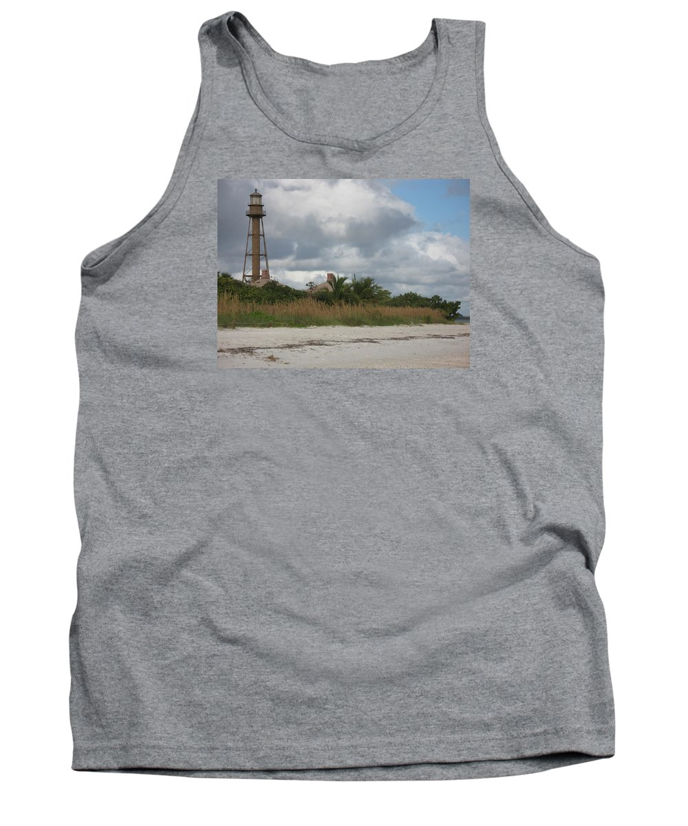 Ligthouse Tank Top featuring the photograph Sanibel Island Light by Christiane Schulze Art And Photography