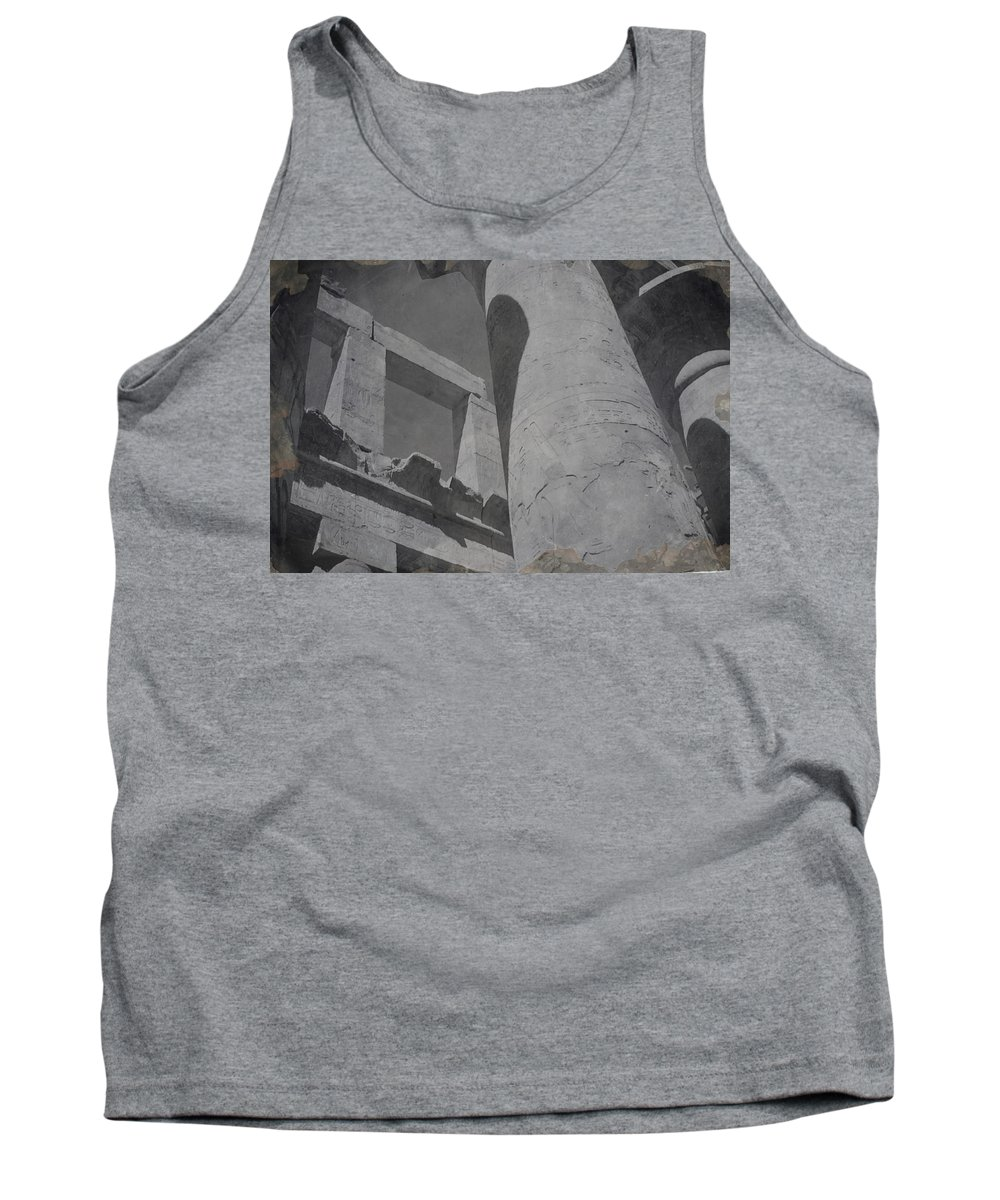 Tank Top featuring the photograph Lights Shadows And Ancient Columns by Cathy Anderson
