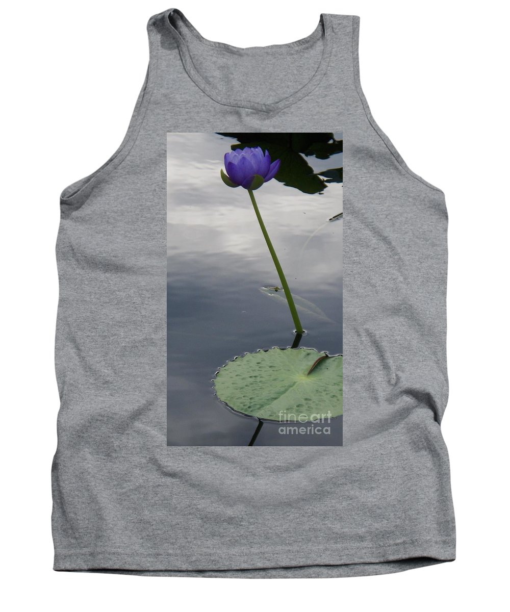 Water Lilies Tank Top featuring the photograph Lily On Stem by Eric Schiabor