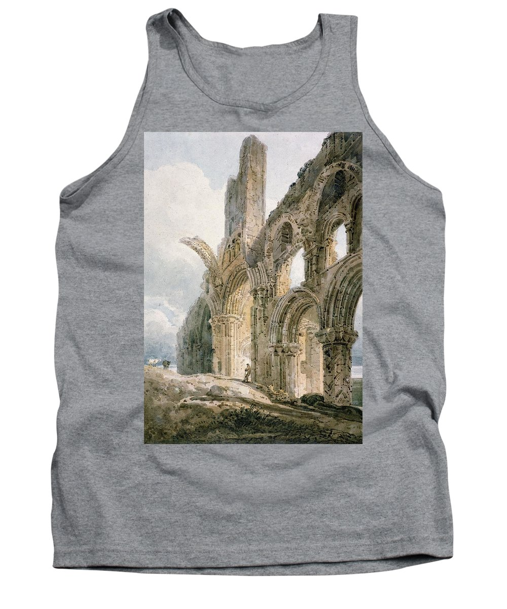 Holy Island Tank Top featuring the painting Lindisfarne Abbey by Thomas Girtin