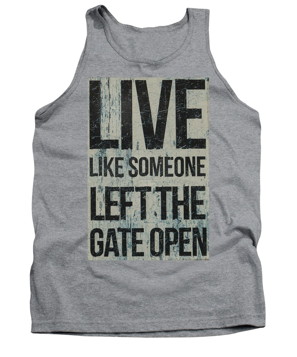 Live Tank Top featuring the photograph Live by Brigitte Mueller