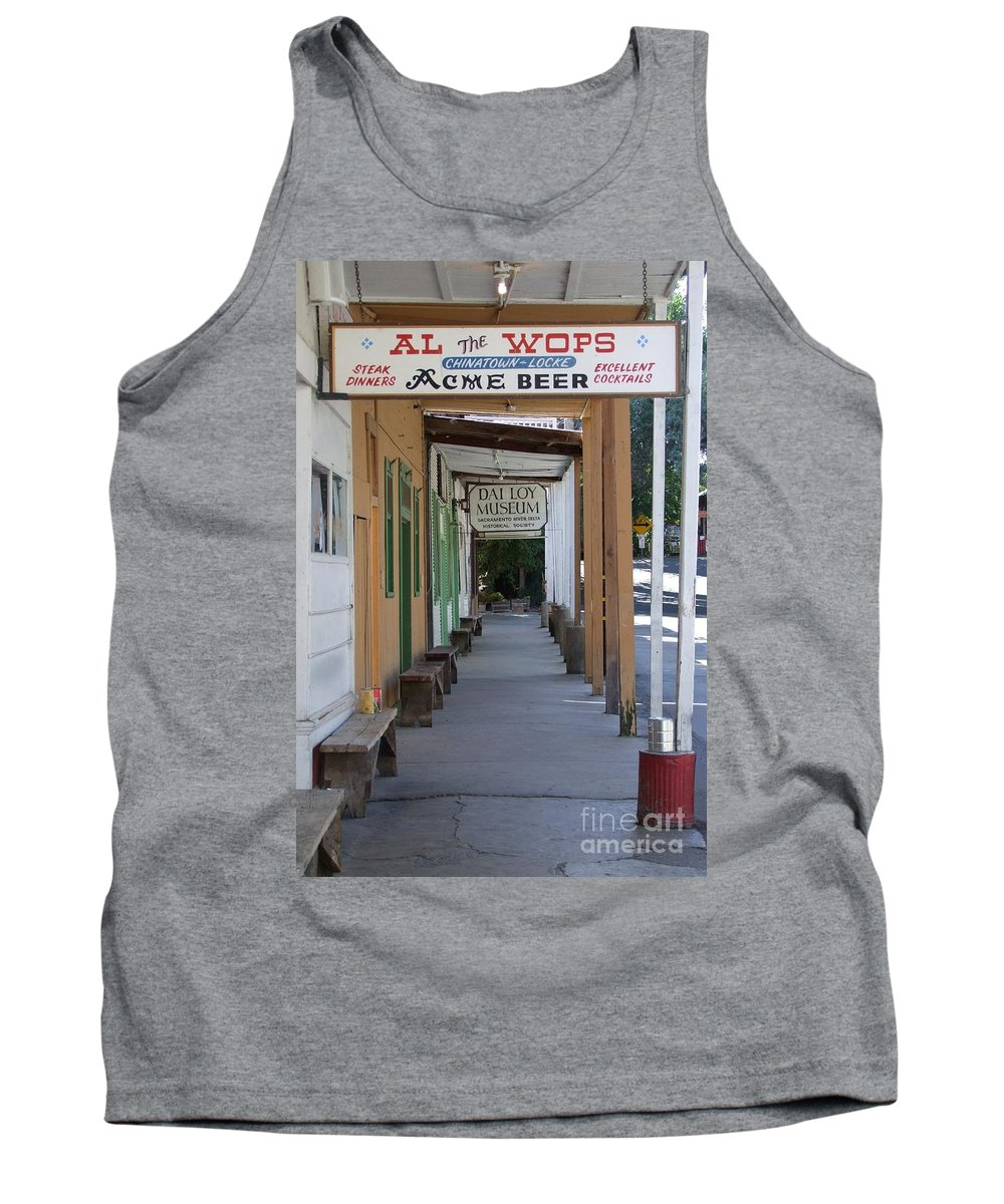Al The Wops Tank Top featuring the photograph Locke Chinatown Series - Main Street - 7 by Mary Deal