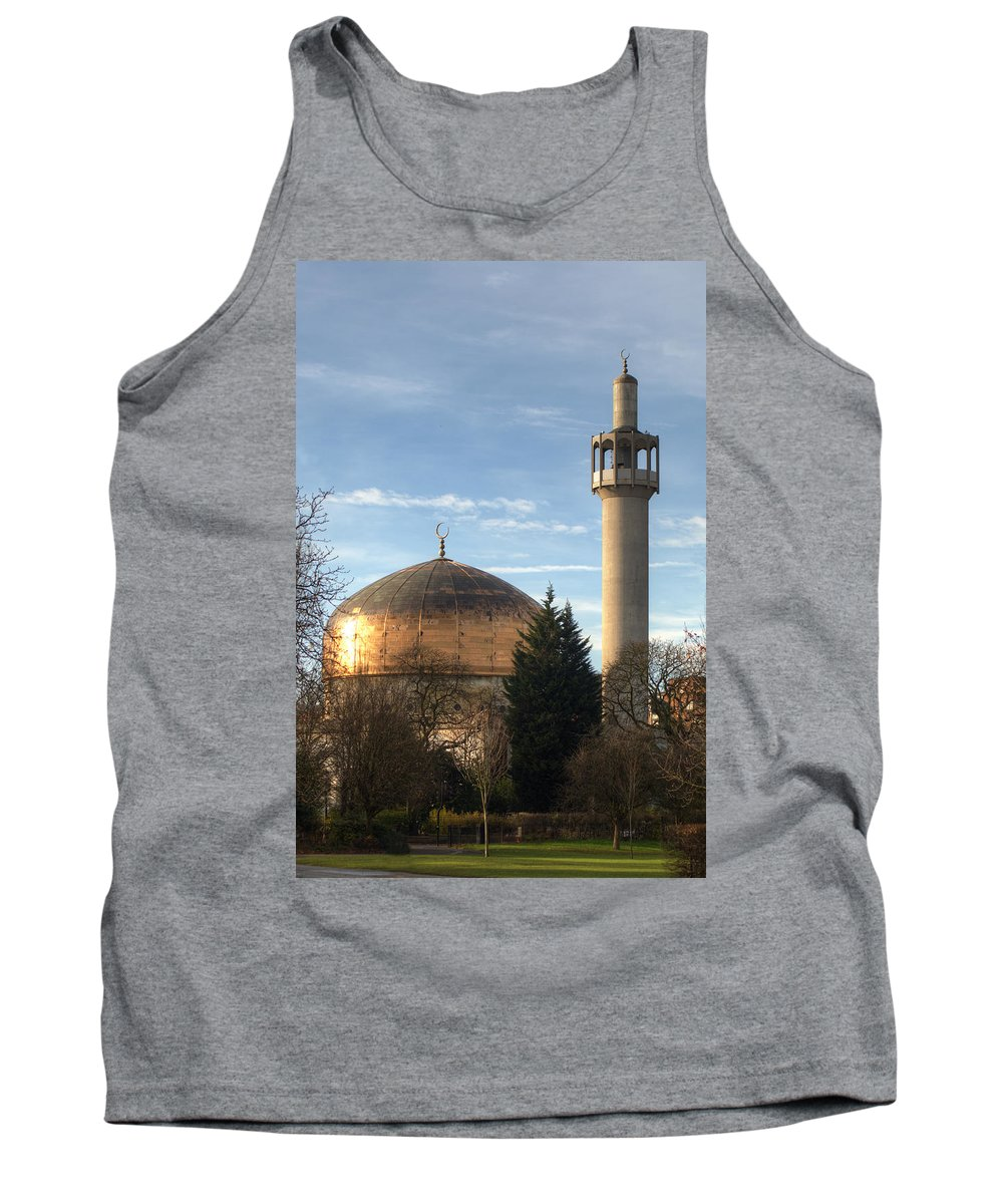 London Central Mosque Tank Top featuring the photograph London Central Mosque by Chris Day