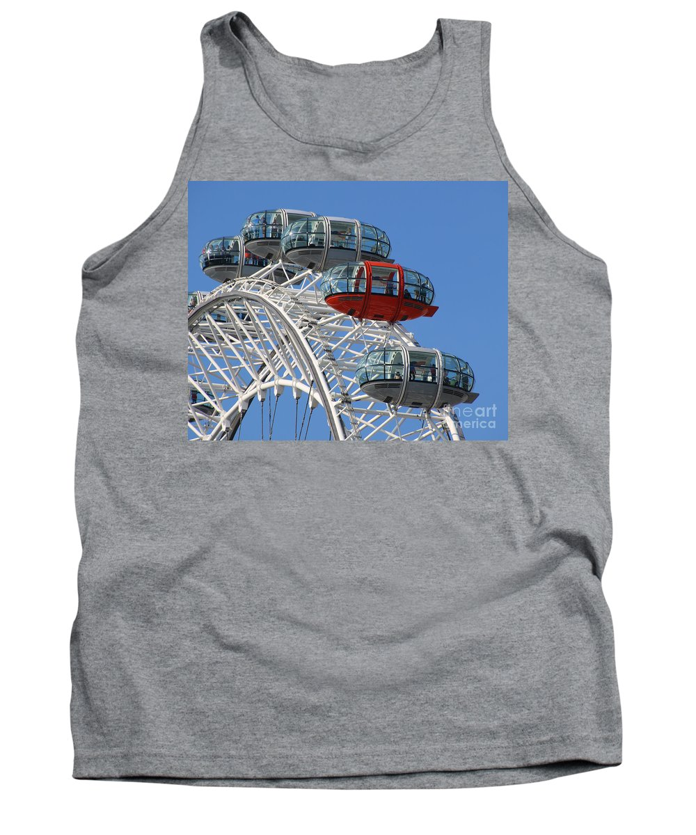 London Eye Tank Top featuring the photograph London Eye 5339 by Jack Schultz