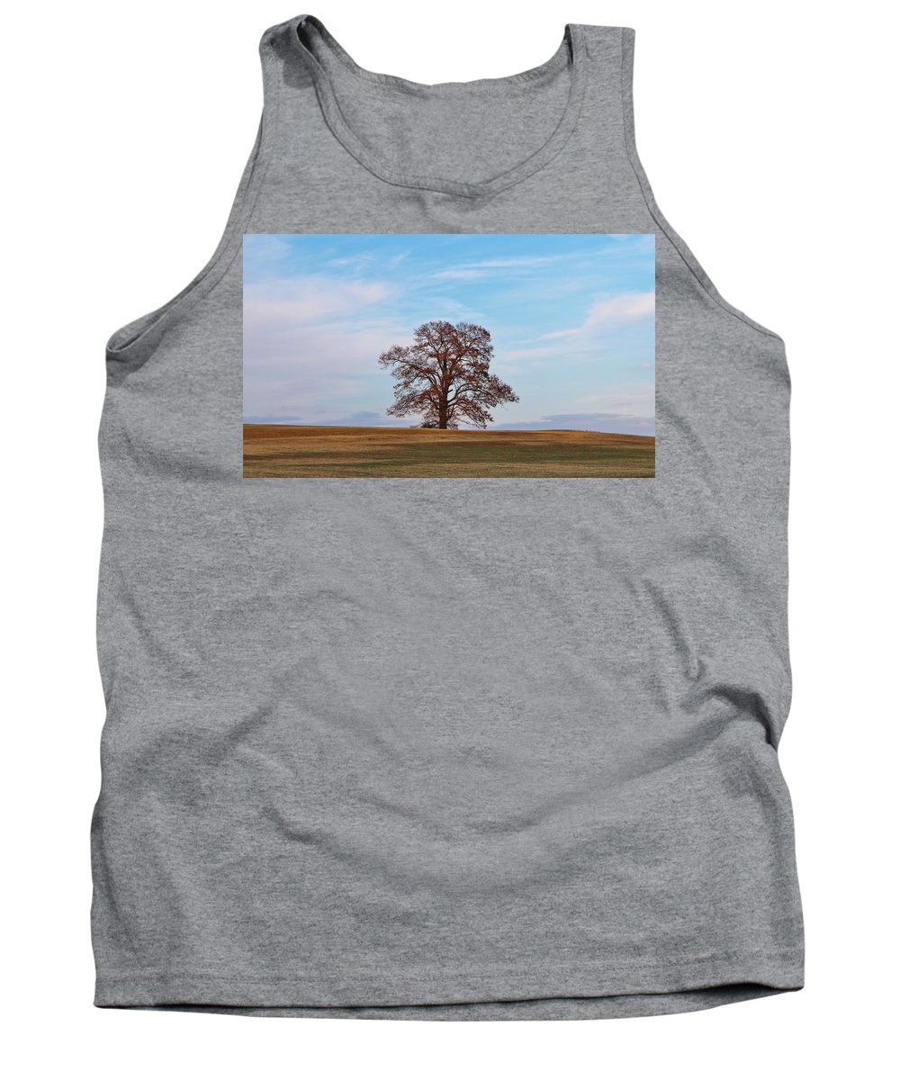 One Tank Top featuring the photograph Lonely Tree by Cynthia Guinn
