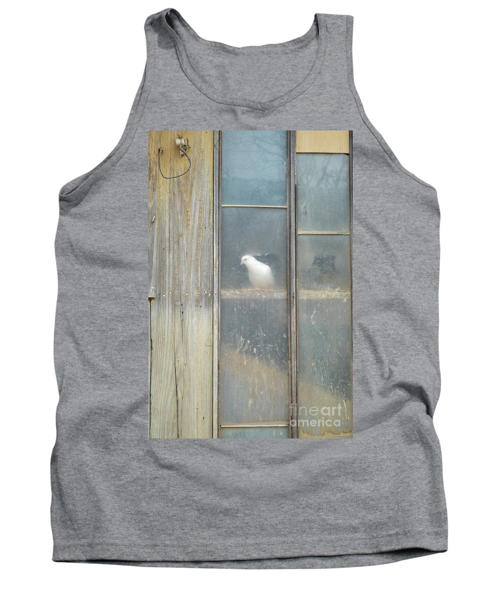 Bird Tank Top featuring the photograph Looking Out The Coop by Meandering Photography