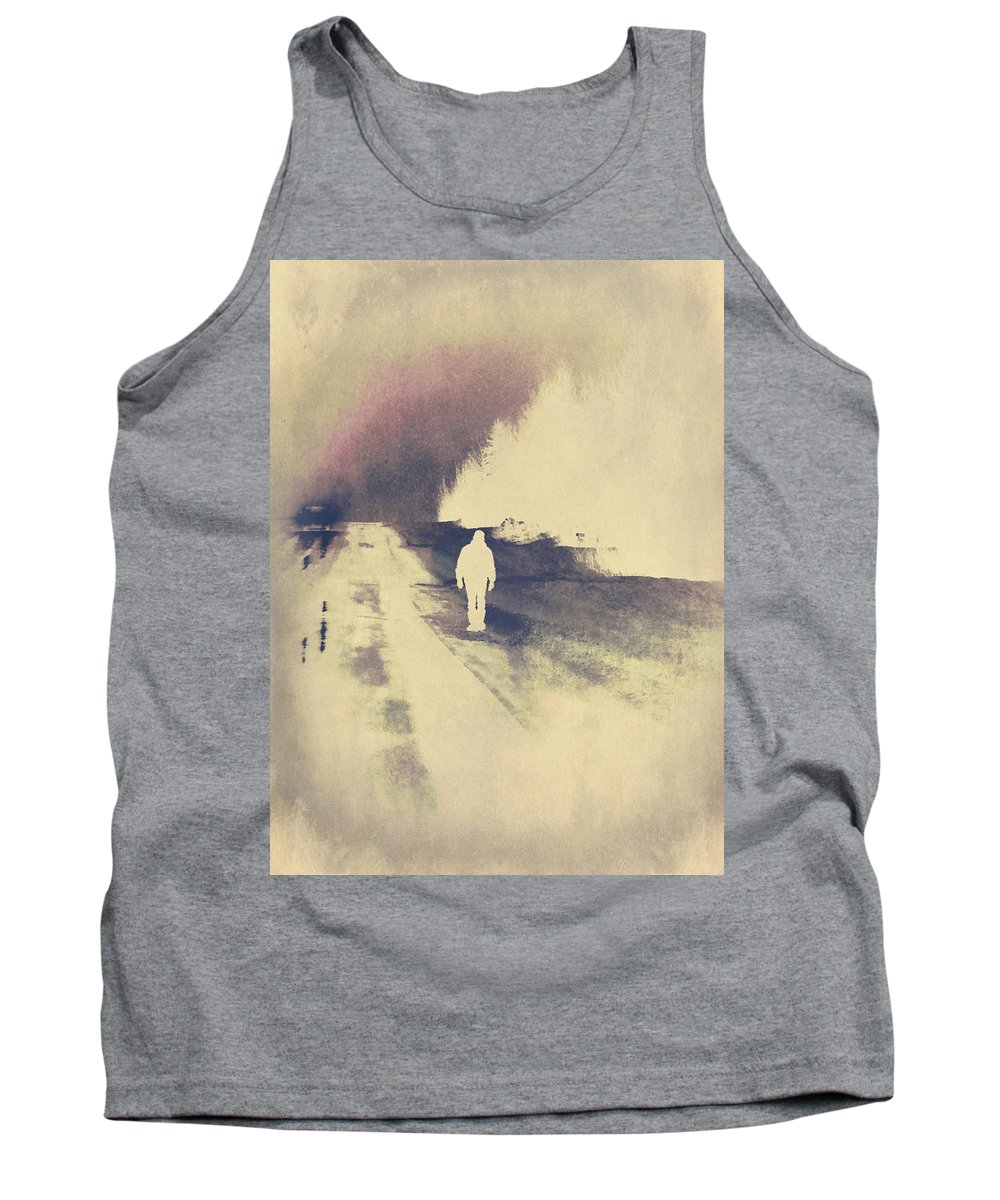Hitch Hiker Tank Top featuring the photograph Lost Hitch Hiker by The Artist Project