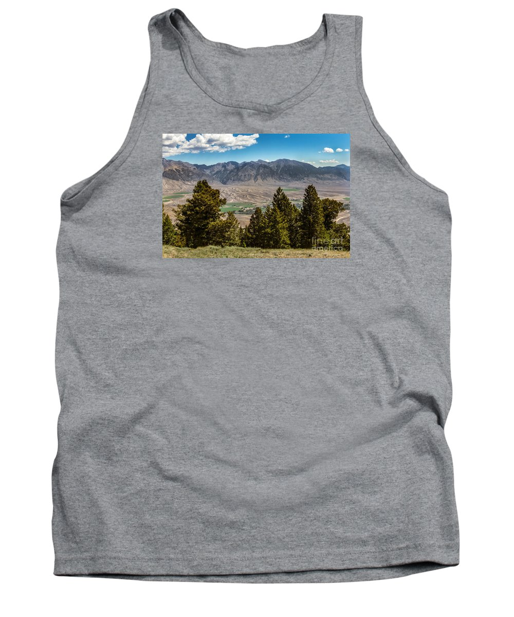 Lost River Tank Top featuring the photograph Lost River Mountains by Robert Bales