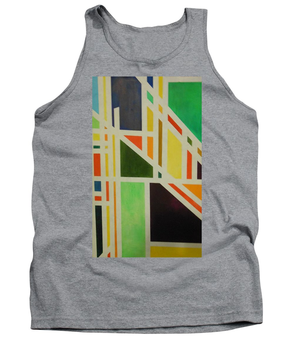 Abstract Tank Top featuring the painting Lost Rodas by Lord Frederick Lyle Morris
