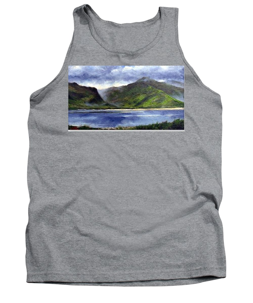Irish Tank Top featuring the painting Loughros Bay Ireland by Jim Gola