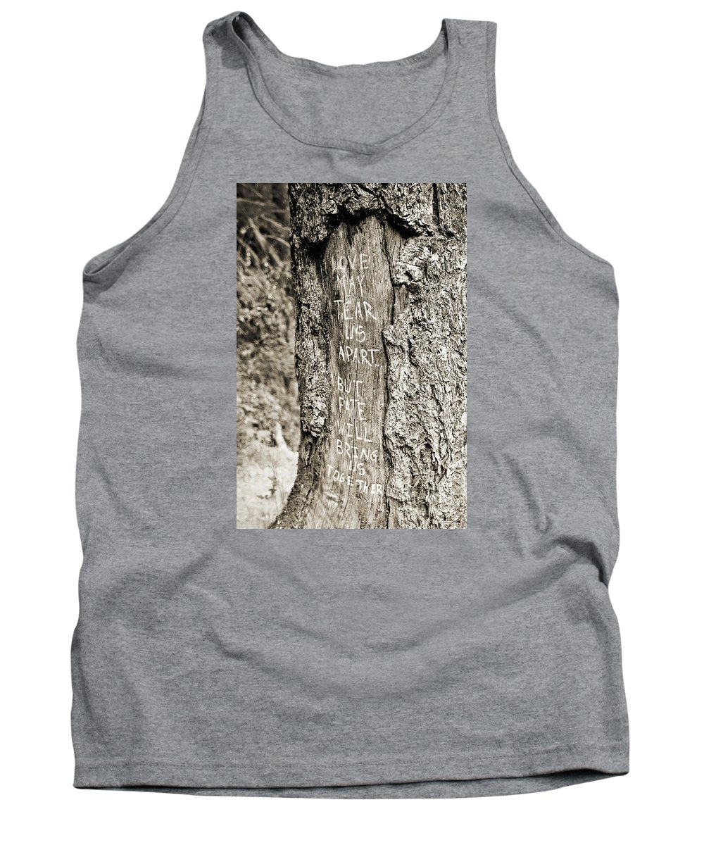 Tree Tank Top featuring the photograph Love And Fate by Scott Pellegrin