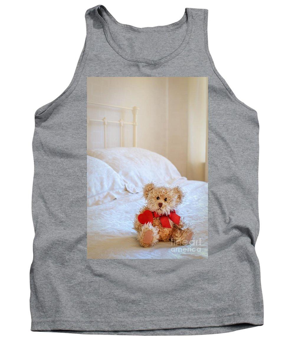 Teddy Tank Top featuring the photograph Lttle Bear by Amanda Elwell
