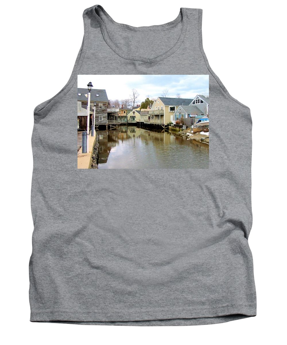 Maine Tank Top featuring the photograph Maine Backwater by Robert McCulloch