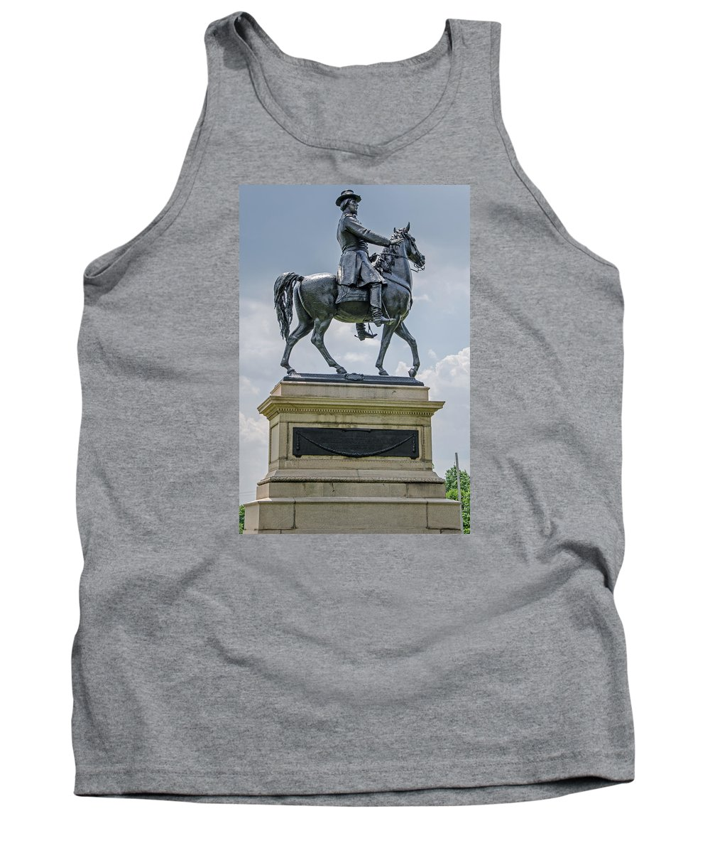 Major-general Winfield S. Hancock Tank Top featuring the photograph Major-general Winfield S. Hancock by Susan McMenamin