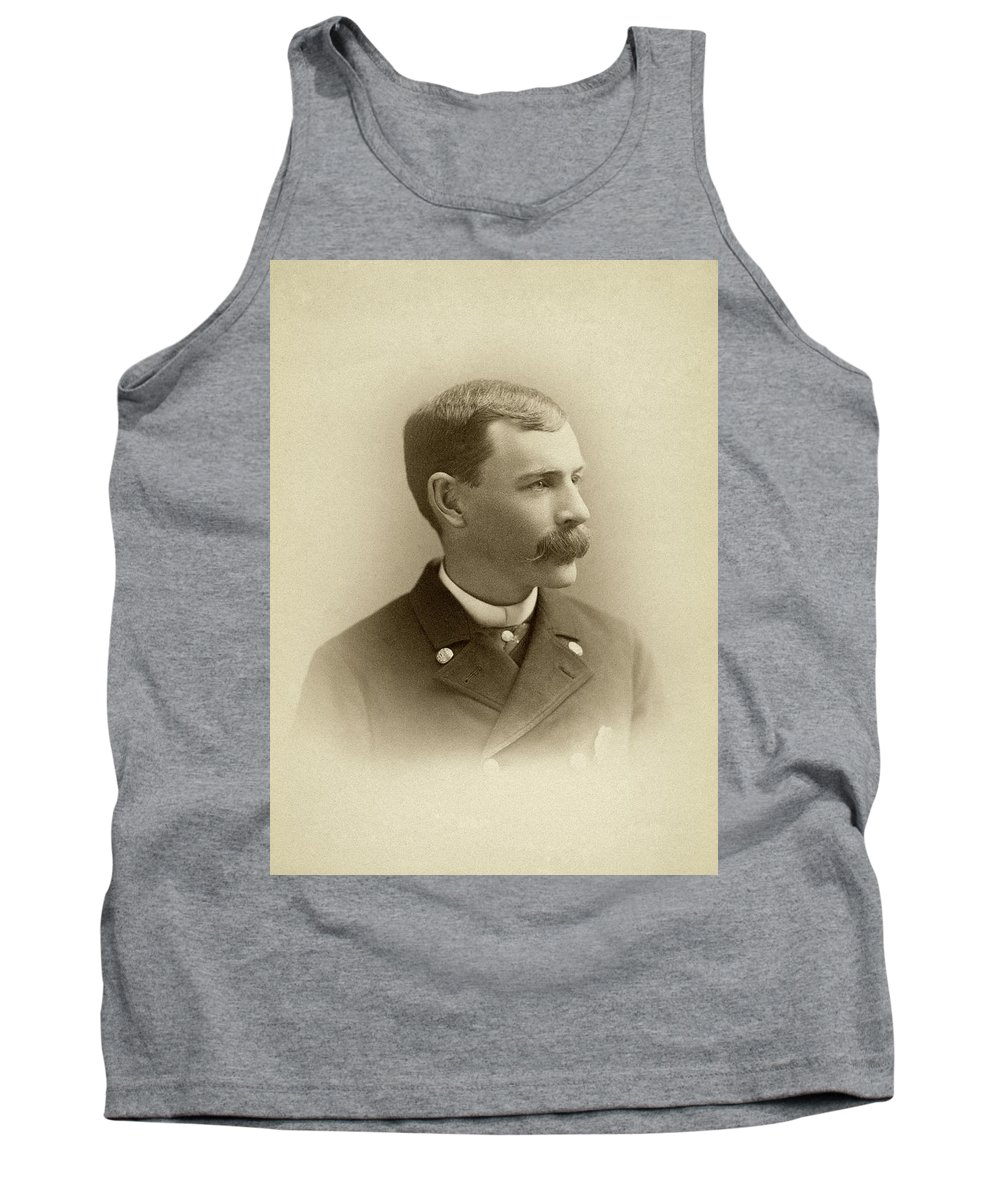 1885 Tank Top featuring the photograph Man, C1885 by Granger