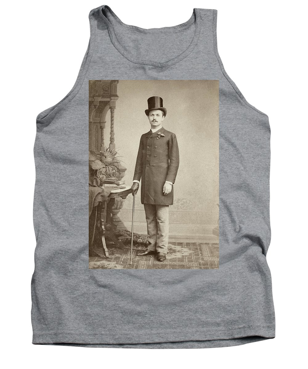1887 Tank Top featuring the photograph Man, C1887 by Granger