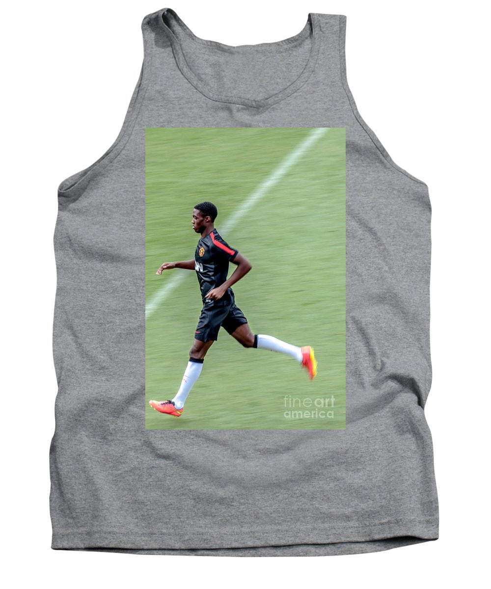 Wilfried Zaha Tank Top featuring the photograph Manchester United Zaha by Amel Dizdarevic