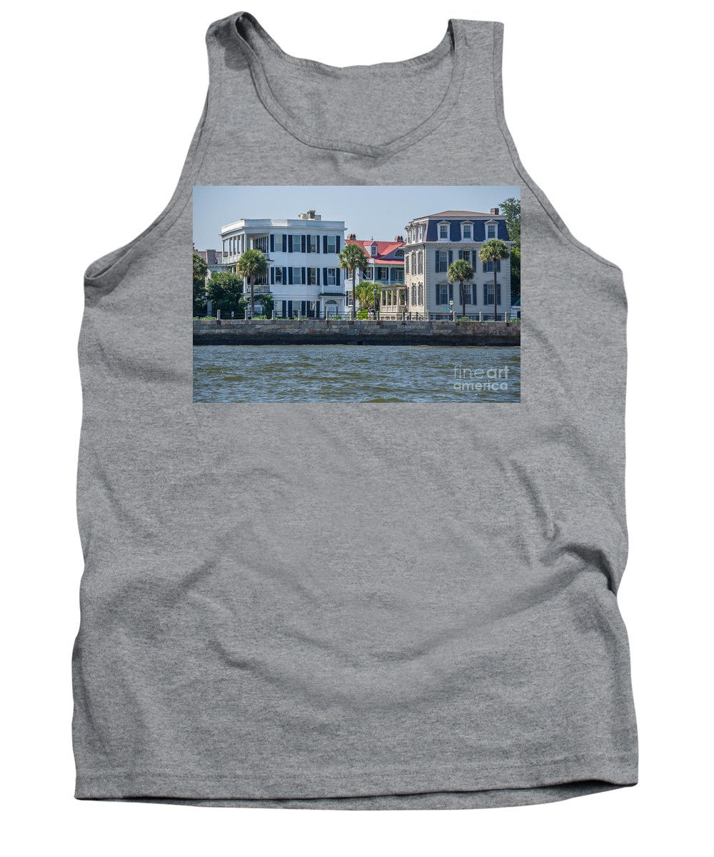 Charleston Tank Top featuring the photograph Mansions By The Water by Dale Powell