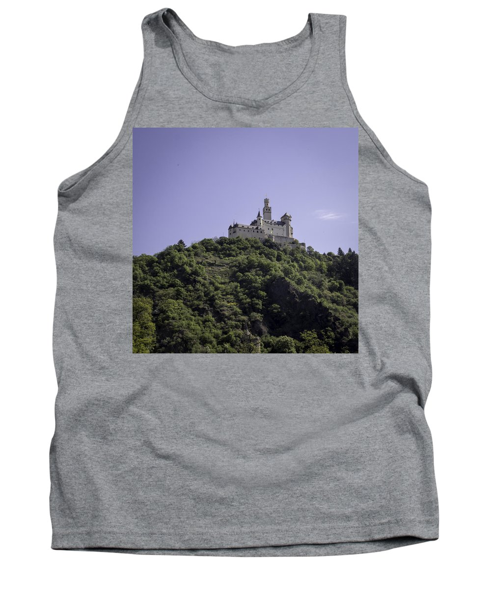 Marksburg Tank Top featuring the photograph Marksburg Castle 16 Squared by Teresa Mucha