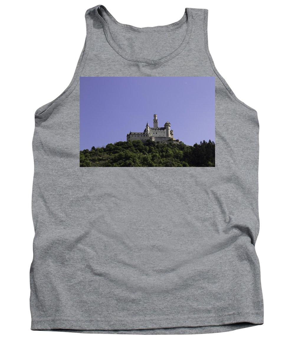Marksburg Tank Top featuring the photograph Marksburg Castle 19 by Teresa Mucha