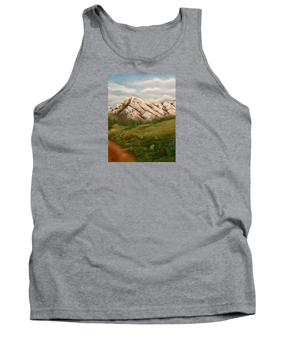 Landscapes Tank Top featuring the painting Maroon Trail Splendor by Sheri Keith