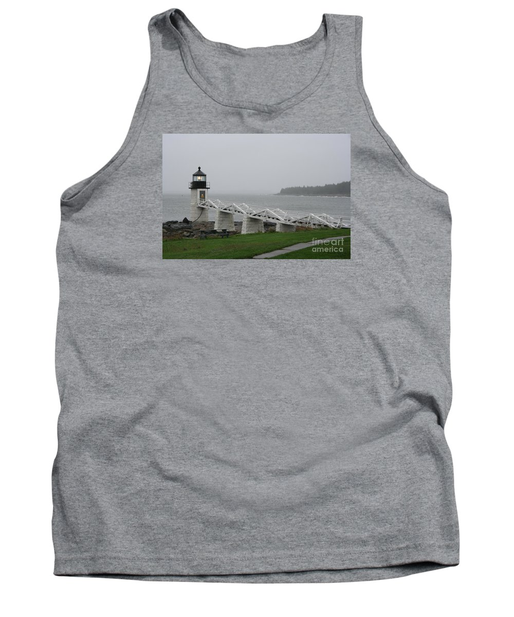 Lighthouse Tank Top featuring the photograph Marshall Point Light Station - Maine by Christiane Schulze Art And Photography