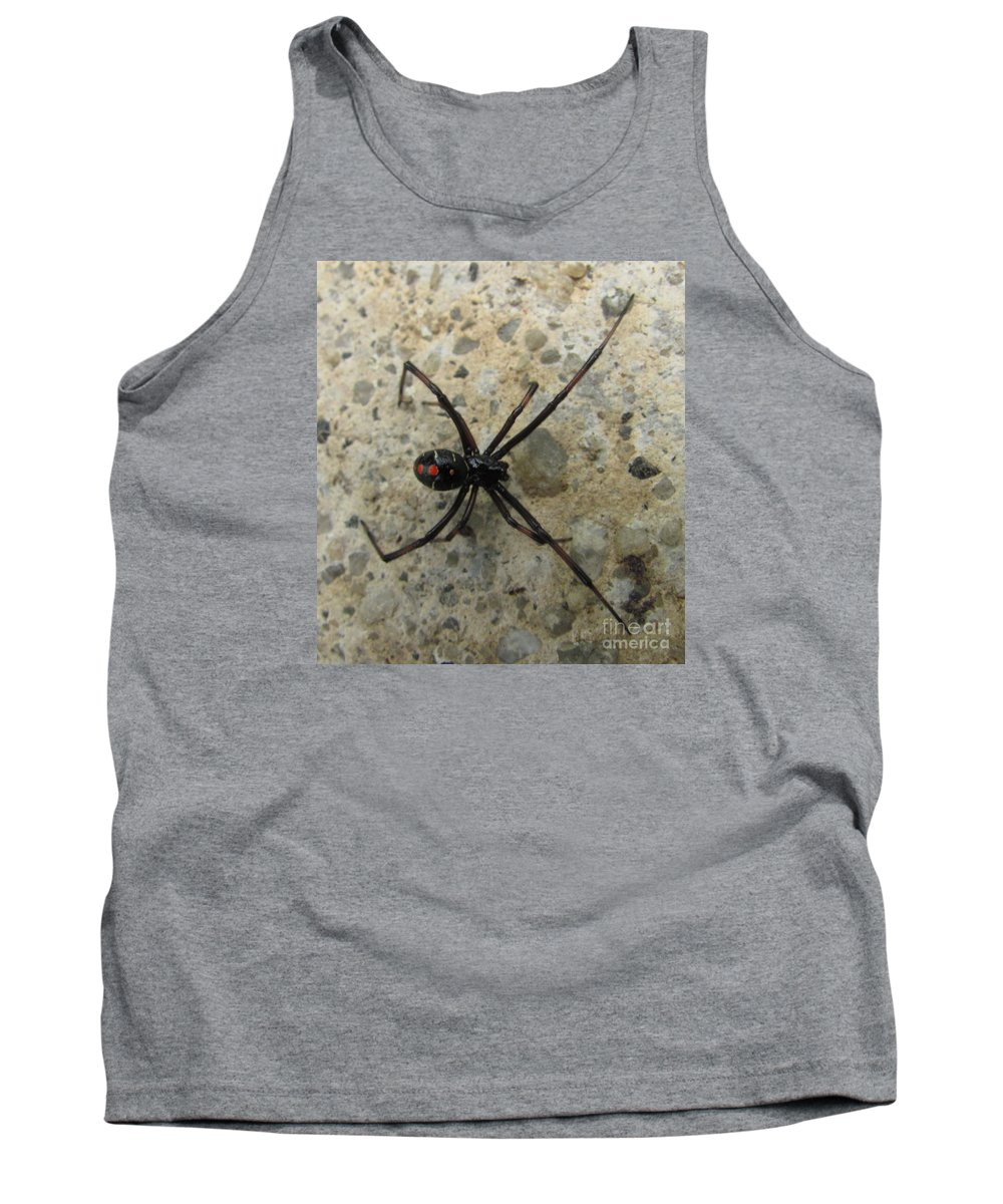 Maryland Black Widow Spider Images Photograph Prints Venomous Spider Images Deadly Spider Photograph Prints Poisonous Spider Prints Critter Prints Killer Spider Prints Tank Top featuring the photograph Maryland Black Widow by Joshua Bales