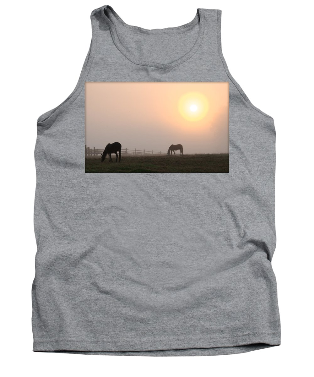 Meanwhile Tank Top featuring the photograph Meanwhile Back At The Ranch by Bill Cannon