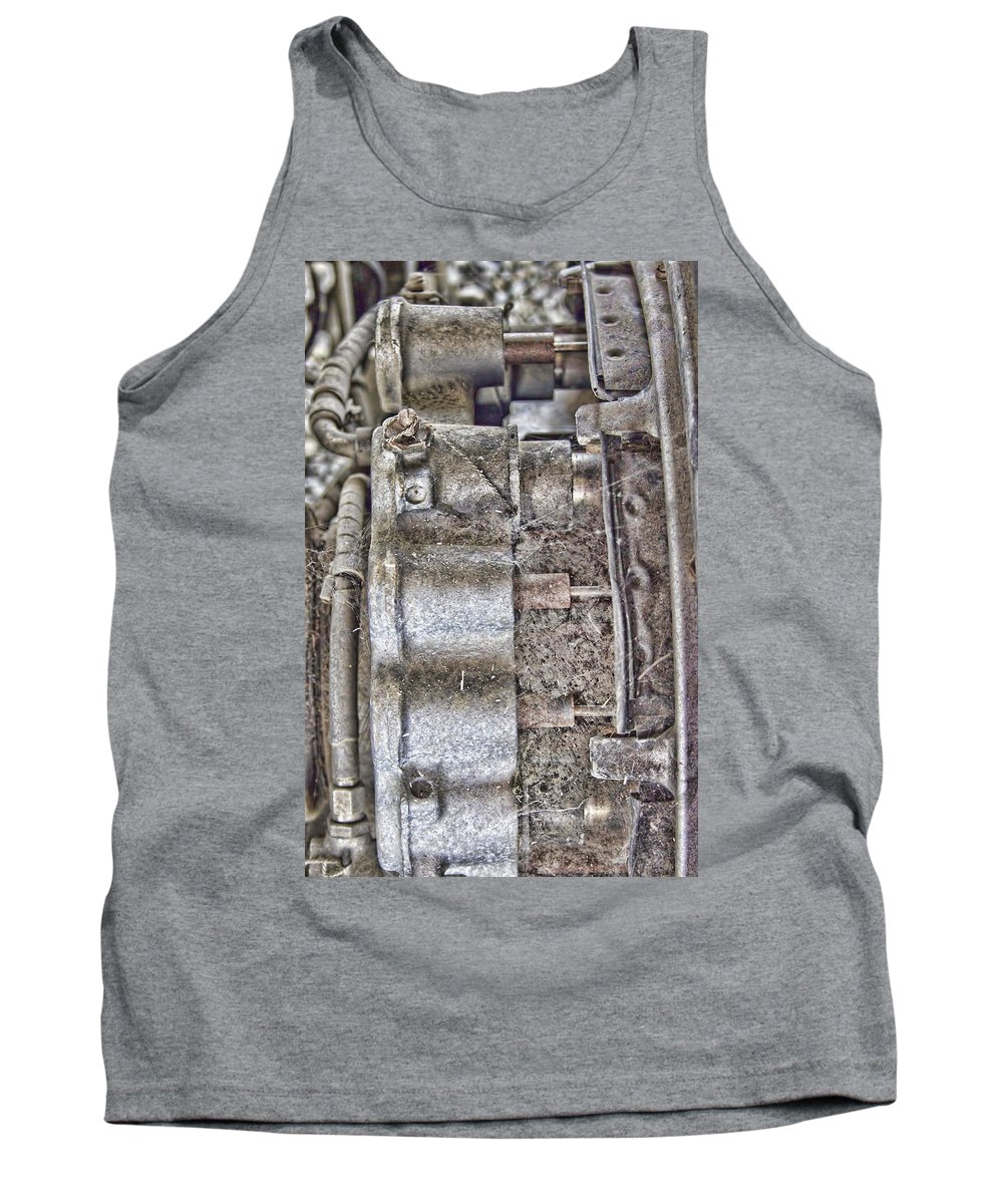 Tank Top featuring the photograph Mechanics Of Landing Gear by Cathy Anderson