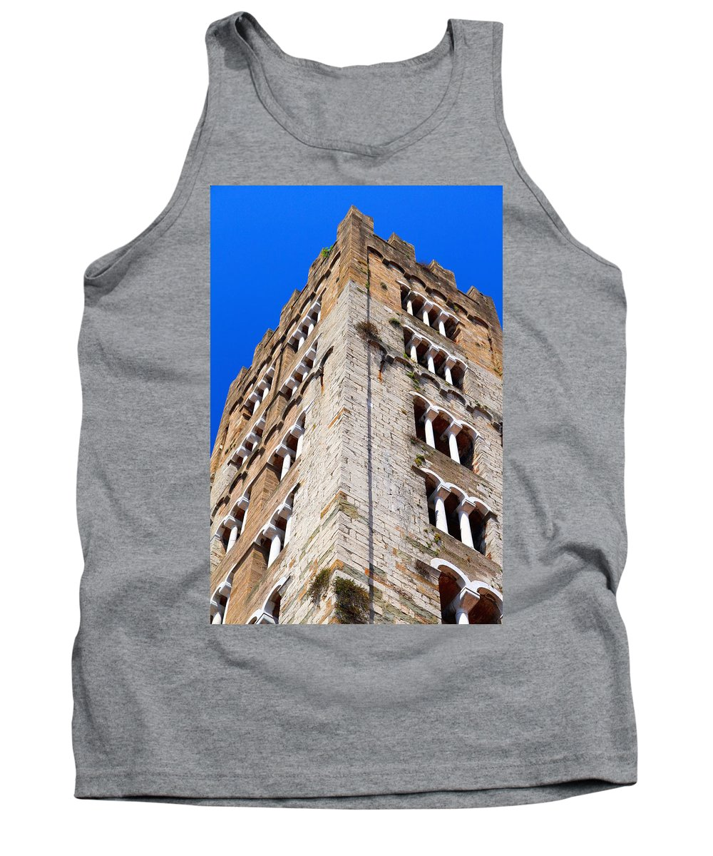 Lucca Tank Top featuring the photograph Medieval Tower by Valentino Visentini