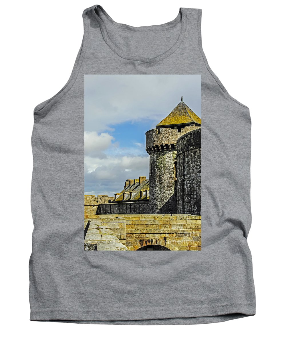 Travel Tank Top featuring the photograph Medieval Towers by Elvis Vaughn