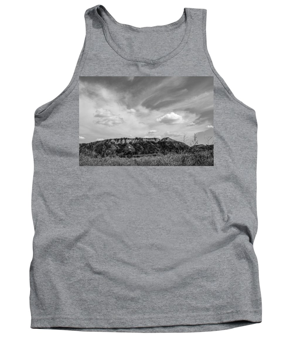 Badlands Tank Top featuring the photograph Medora 51 by Chad Rowe