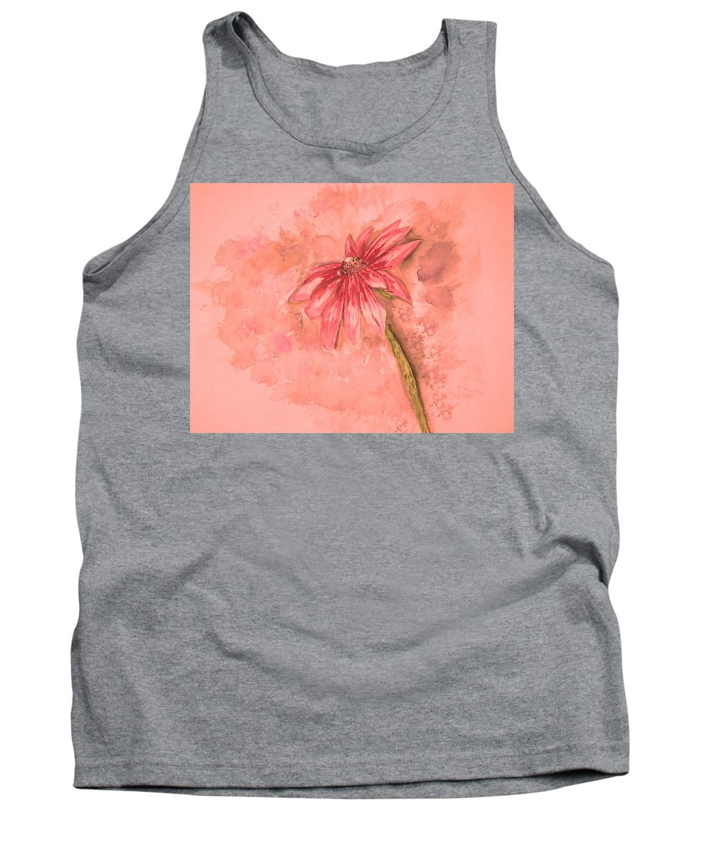 Watercolor Tank Top featuring the painting Melancholoy by Crystal Hubbard