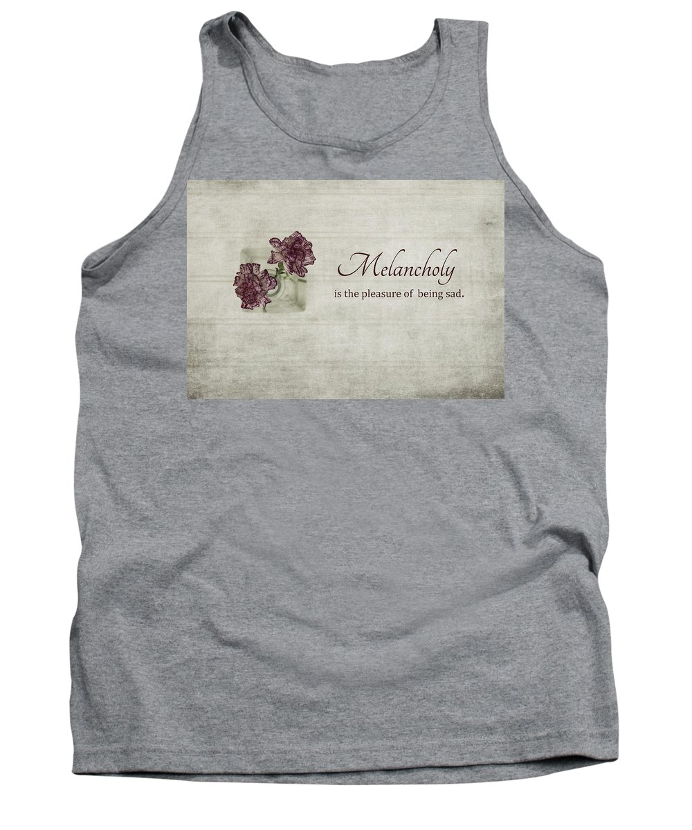Carnation Tank Top featuring the photograph Melancholy by Kim Hojnacki