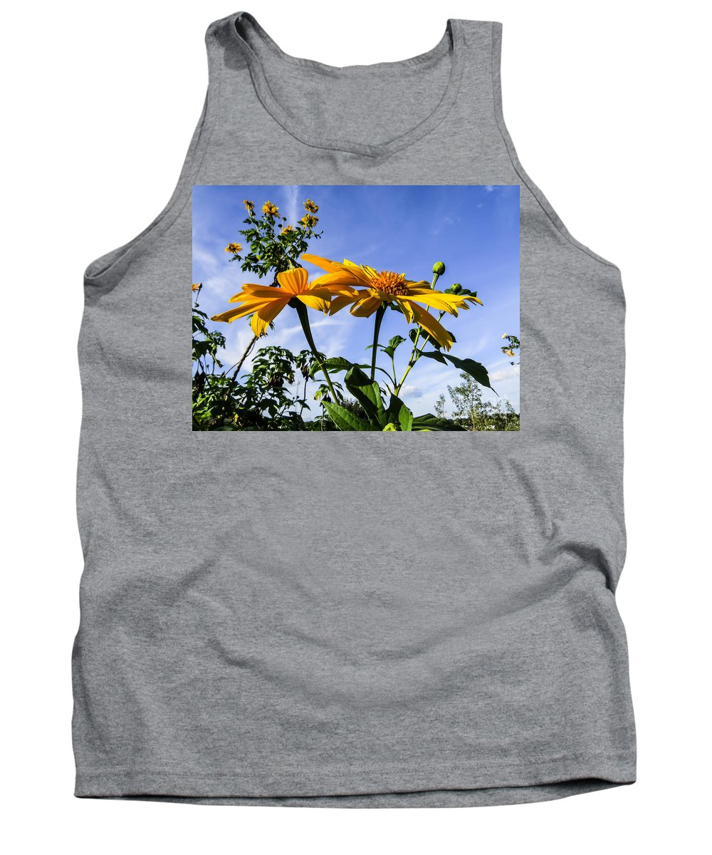 Sunflower Tank Top featuring the photograph Mexican Sunflower by Zina Stromberg