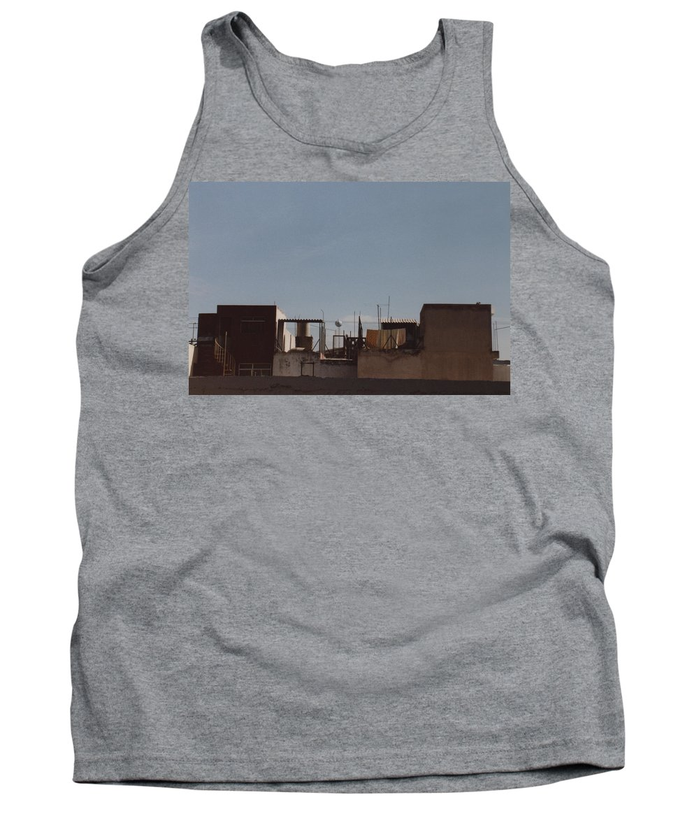 Mexico Tank Top featuring the photograph Mexico Rooftop By Tom Ray by First Star Art