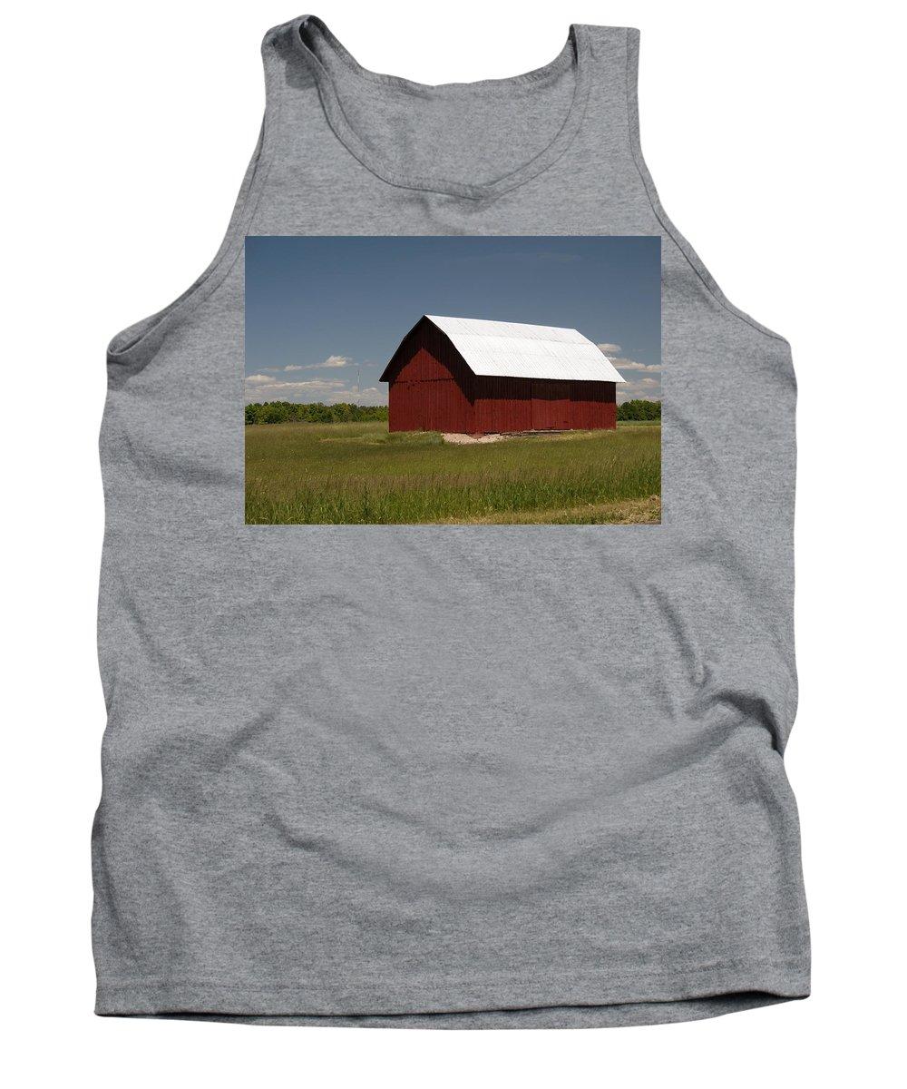 Farm Tank Top featuring the photograph Michigan Barn by Linda Kerkau