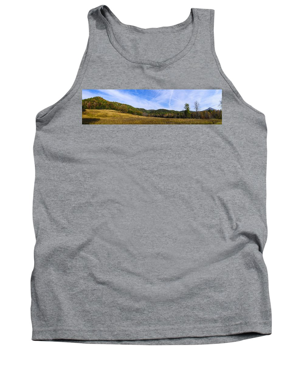 Cades Cove Tank Top featuring the photograph Mid-morning Panorama At Cades Cove by Steve Samples