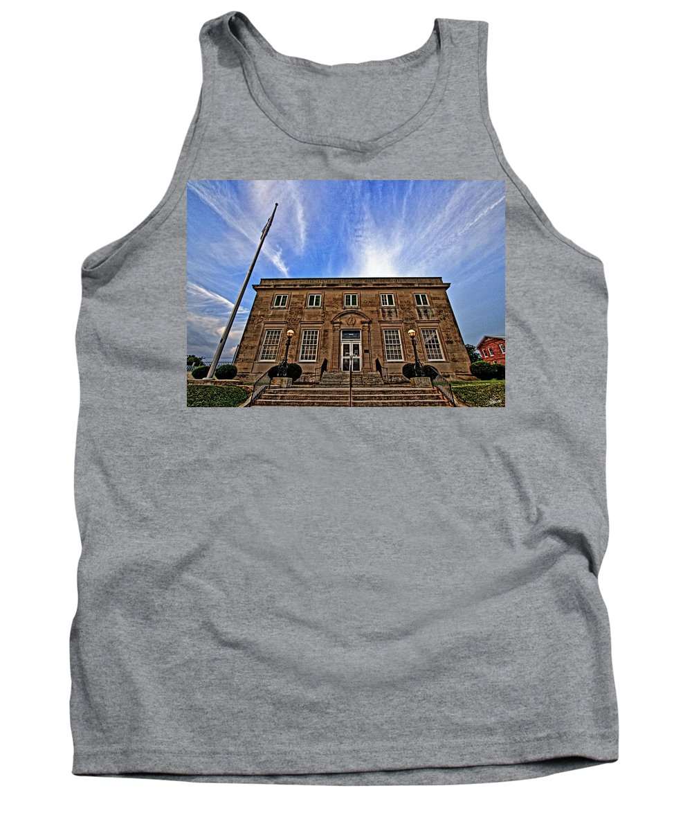 Post Office Tank Top featuring the photograph Milan Post Office by David Zarecor