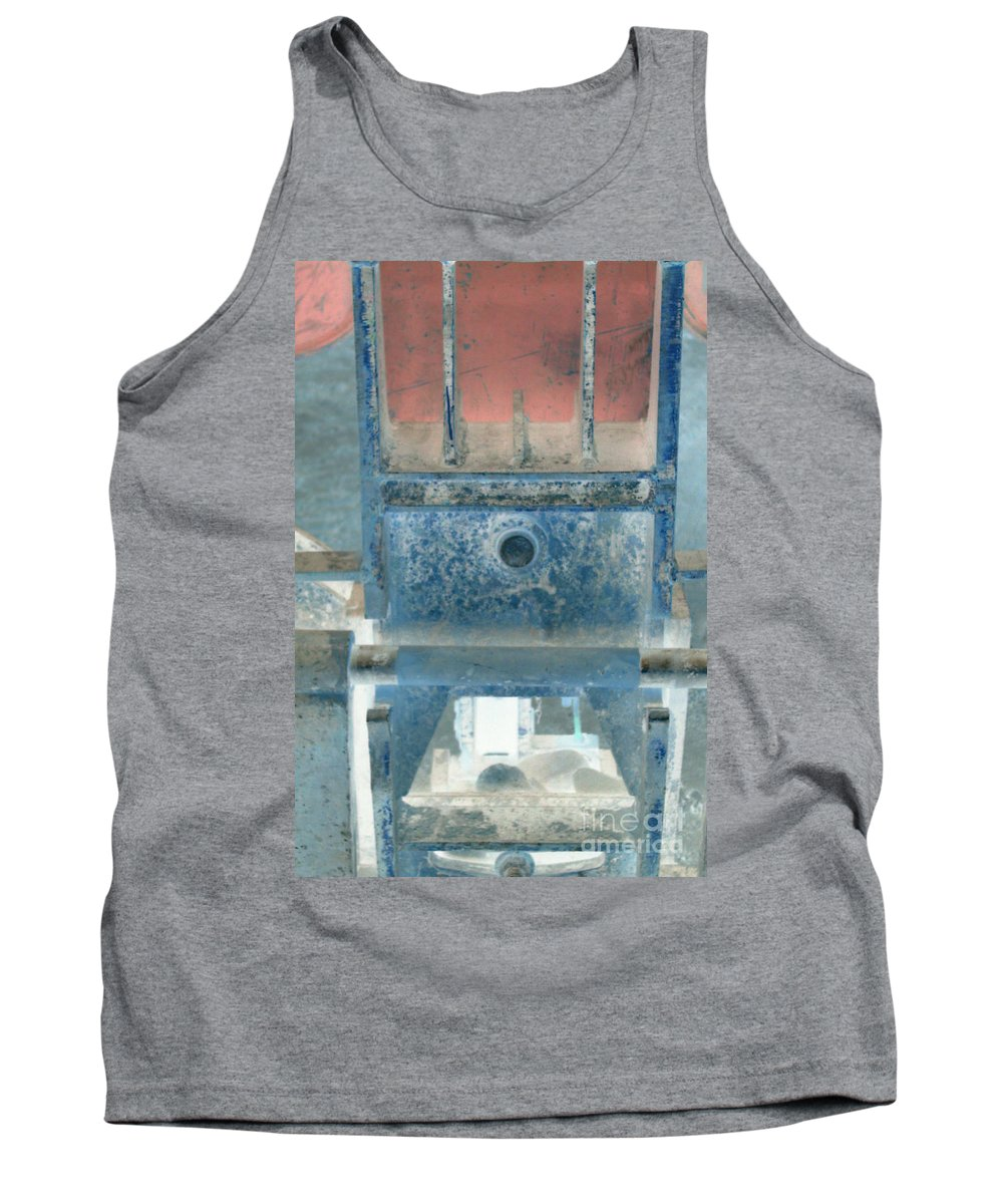 Equipment Tank Top featuring the photograph Missing Middle Bar Center Vertical by Heather Kirk