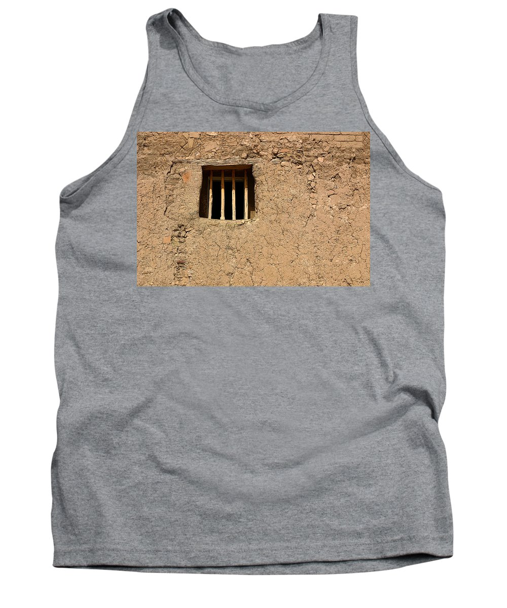 Adobe Tank Top featuring the photograph Mission Church Window by Joe Kozlowski