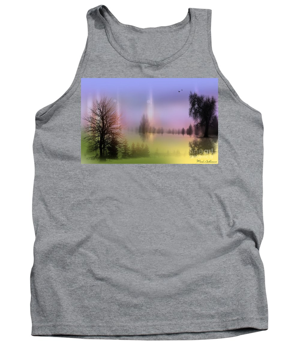 Nature Art Tank Top featuring the photograph Mist Coloring Day 2 by Mark Ashkenazi