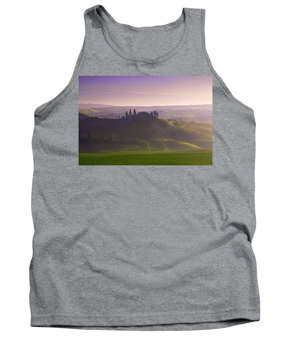 Tuscany Tank Top featuring the photograph Misty Morning by Midori Chan