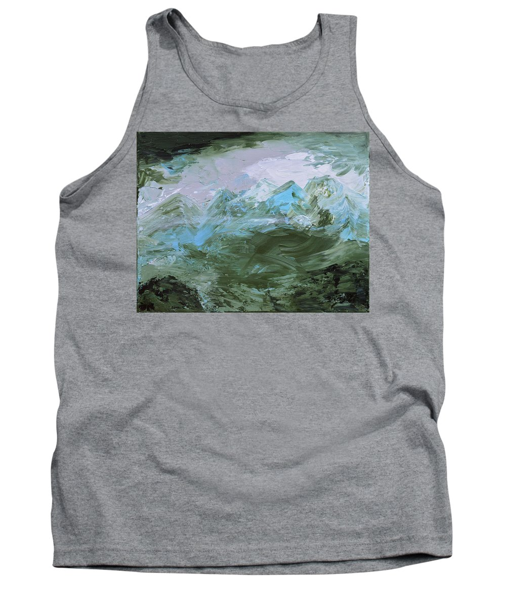 Mountains Tank Top featuring the painting Misty Mountains by Donna Blackhall