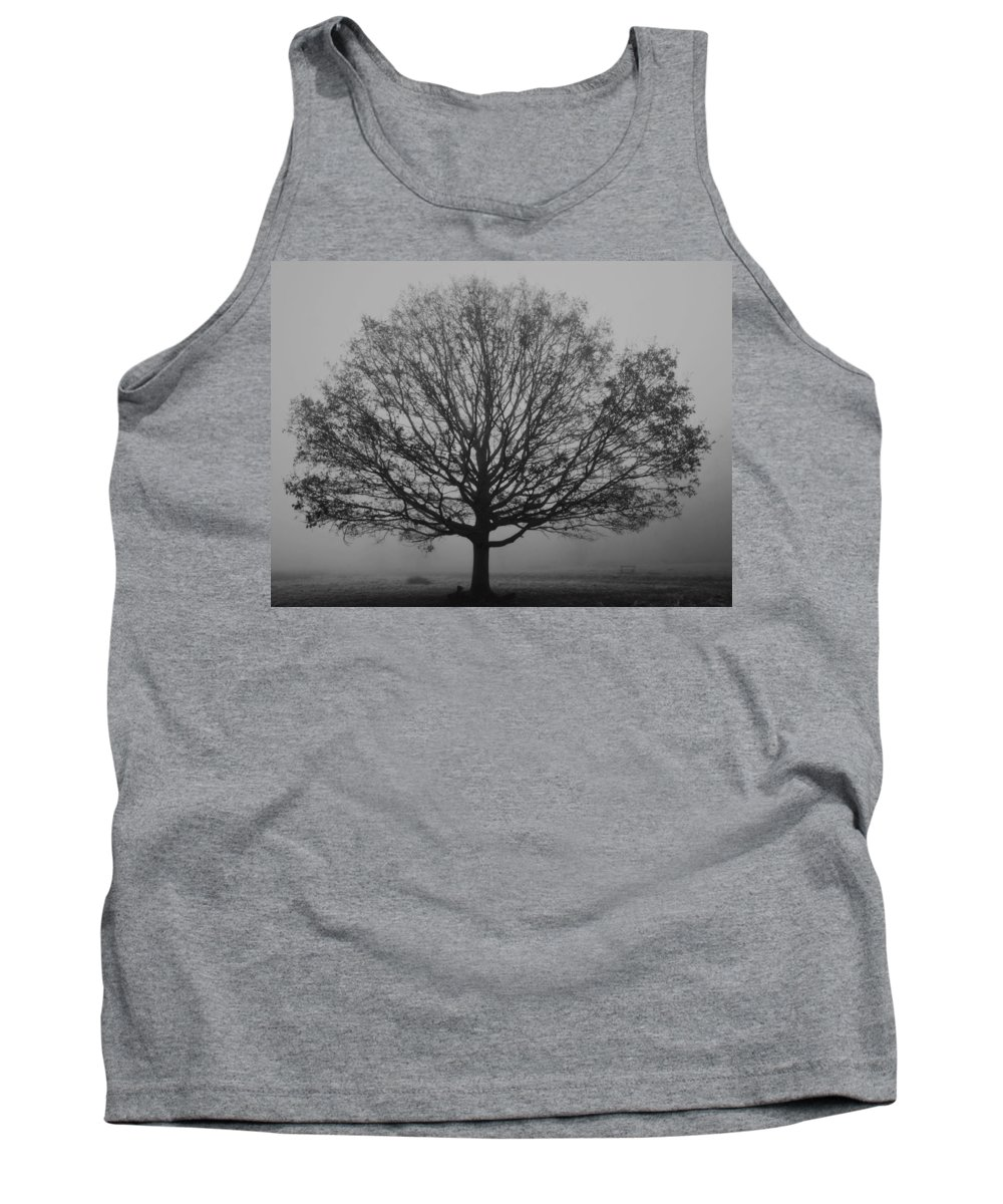 Misty Tank Top featuring the photograph Misty Nature  by Maj Seda