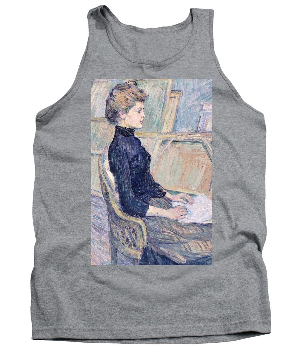 Art; Painting; 19th Century Painting; Europe; France; Toulouse-lautrec Henri De; Female Portrait; Contemporary Age; Literary And Artistic Currents And Movements; Post-impressionism (france From 1886); Brema Kunsthalle (art Gallery) Tank Top featuring the painting Model In Study by Henri de Toulouse Lautrec