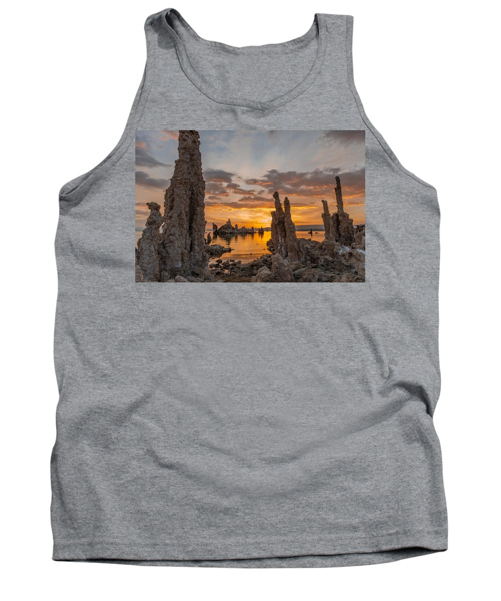 Tufa Tank Top featuring the photograph Mono Lake Sunrise by Greg Nyquist